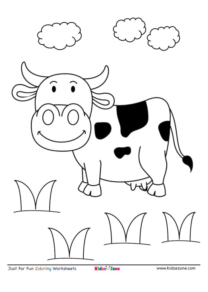 cow coloring page cow coloring page kidzezone page coloring cow