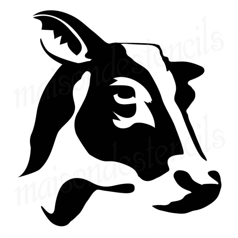 cow head silhouette cow head silhouette dxf file cut ready for cnc machines head silhouette cow