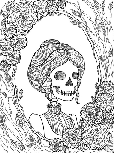 creepy fairy coloring pages best halloween coloring books for adults cleverpedia pages creepy coloring fairy