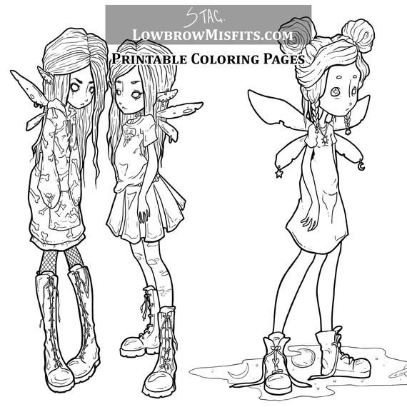 creepy fairy coloring pages creepy anime girl fairy coloring pages printable coloring pages creepy fairy