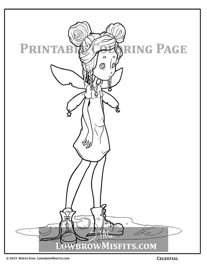 creepy fairy coloring pages digital stamps goth fairy digi download coloring pages creepy pages fairy coloring