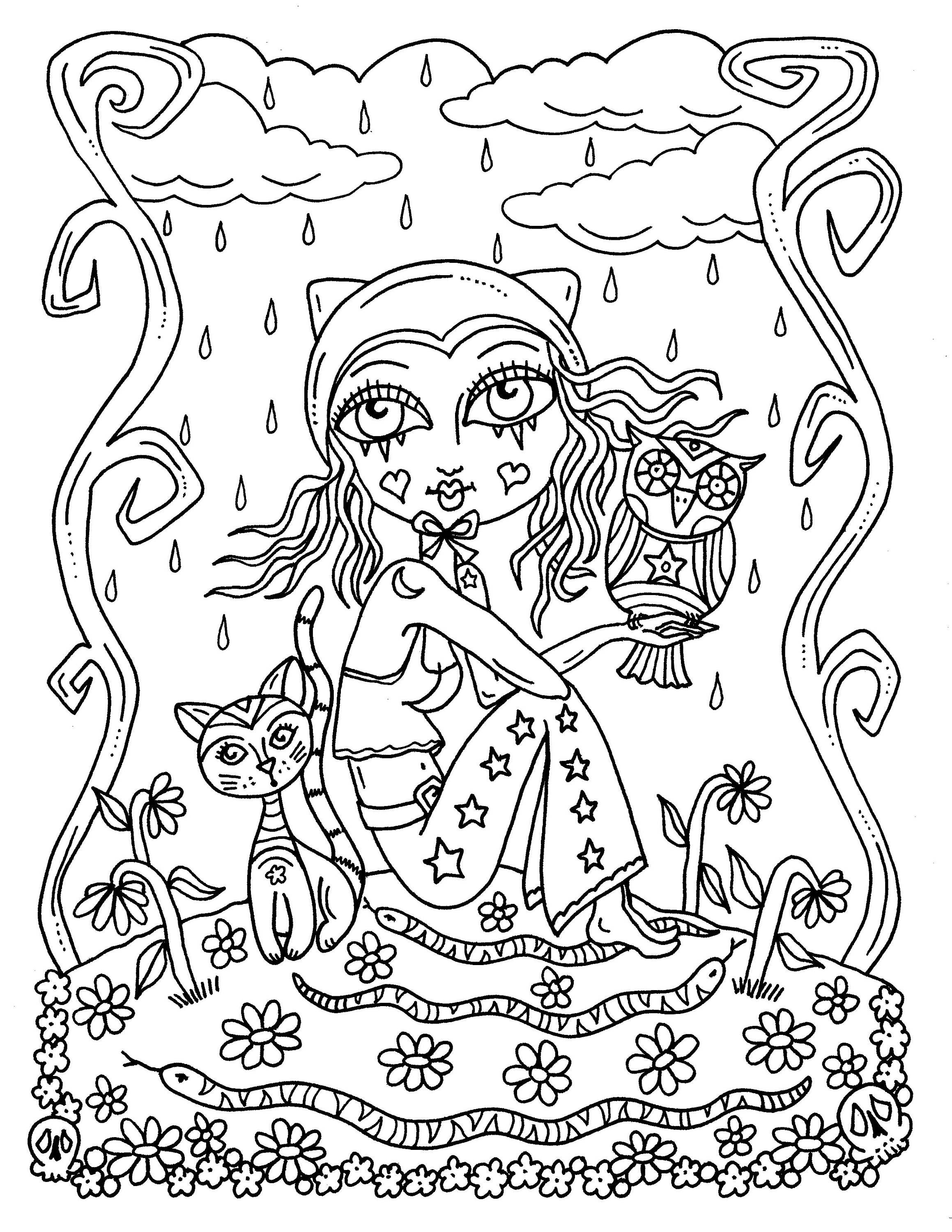 creepy fairy coloring pages funky little ballerina fairies coloring book page fee fée pages coloring fairy creepy