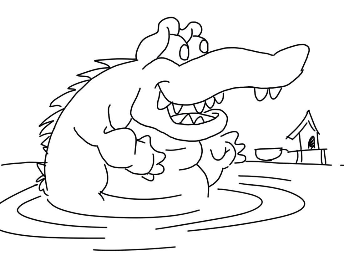 crocodile color crocodile coloring pages to download and print for free crocodile color 1 2