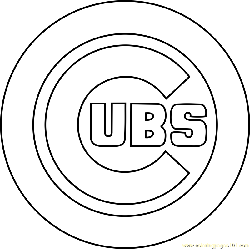 cubs baseball coloring pages chicago cubs baseball coloring pages Сoloring pages for baseball cubs pages coloring