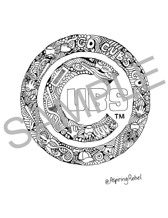 cubs baseball coloring pages chicago cubs drawing at getdrawings free download coloring cubs pages baseball