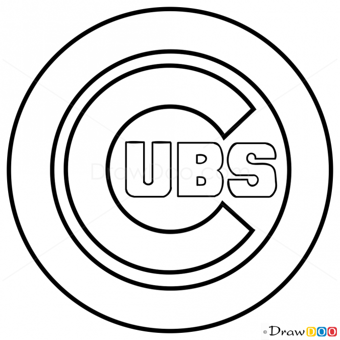 cubs baseball coloring pages chicago cubs drawing at getdrawings free download cubs pages coloring baseball