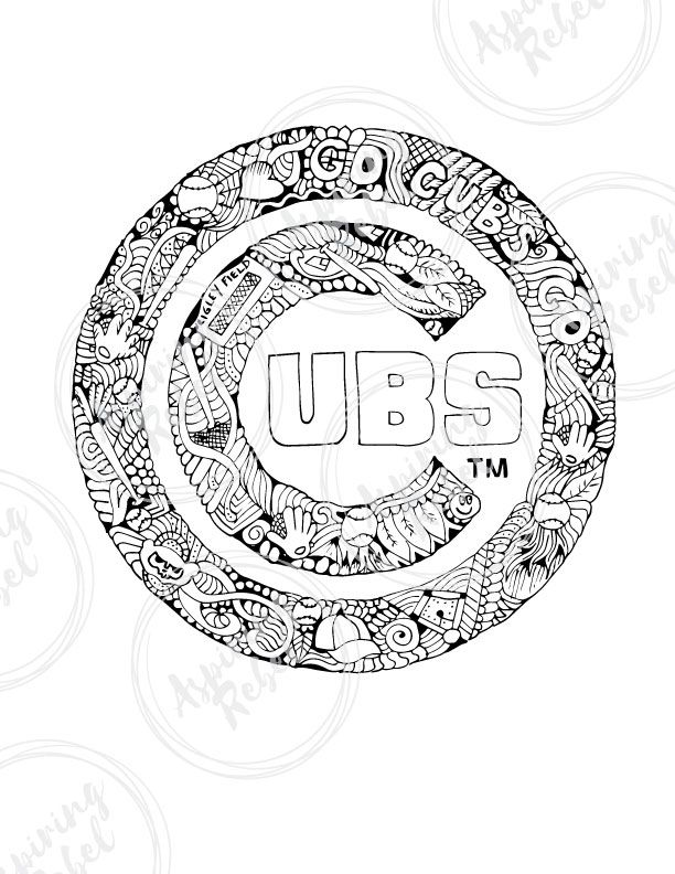 cubs baseball coloring pages chicgo cubs coloring pages learny kids coloring cubs baseball pages