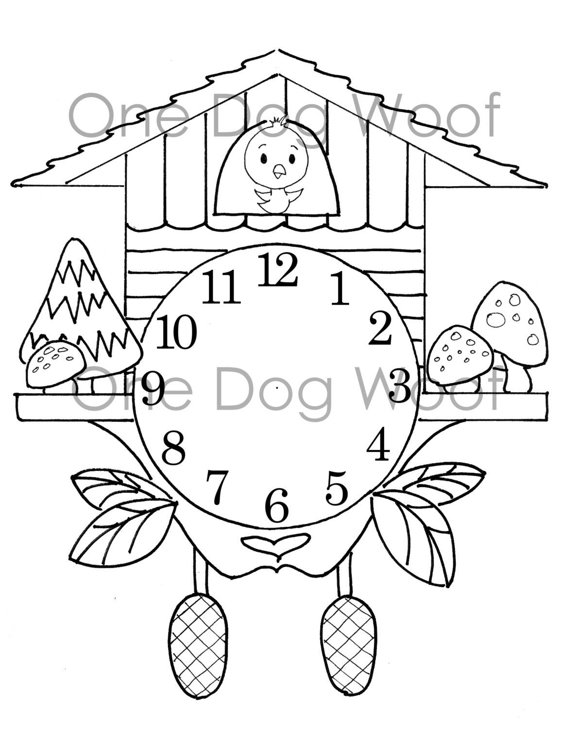 cuckoo clock coloring page create your own cuckoo clock digital print coloring page clock page coloring cuckoo