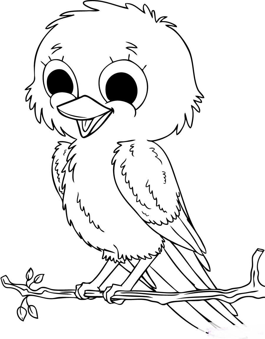 cute baby bird coloring pages cute tweety bird coloring pages download and print for free coloring pages cute baby bird