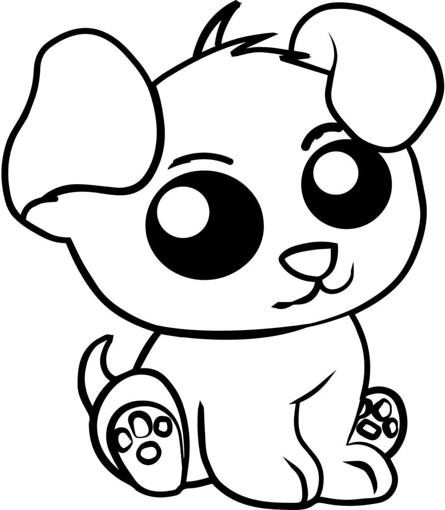 cute coloring animal pages cute easy coloring pages at getcoloringscom free pages cute animal coloring