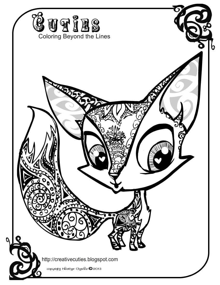 cute coloring animal pages quirky artist loft 39cuties39 free animal coloring pages pages coloring animal cute