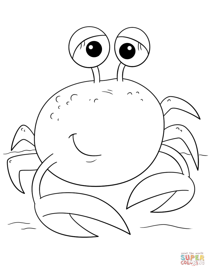 cute crab coloring pages crab coloring pages to download and print for free cute coloring crab pages