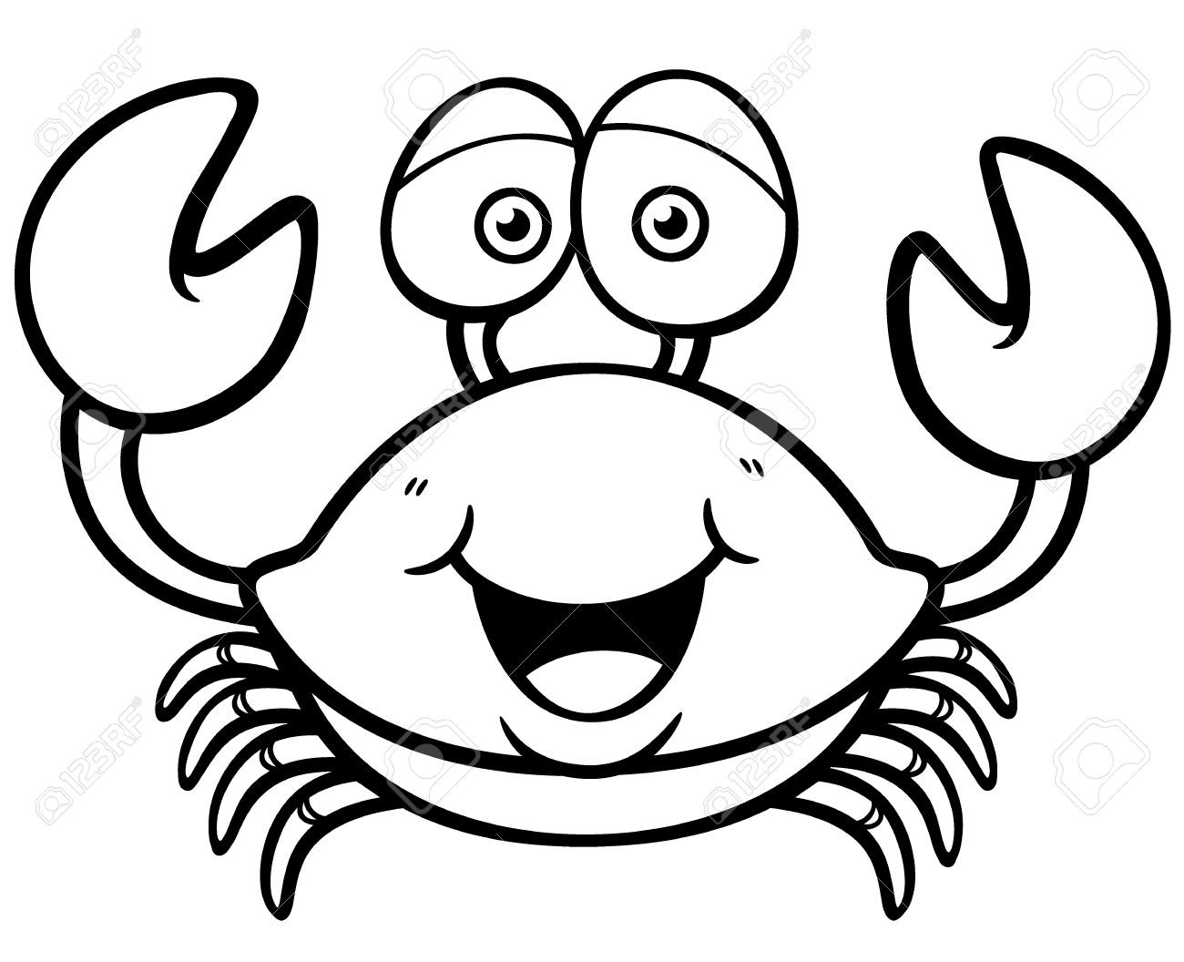cute crab coloring pages crabs coloring pages learny kids cute pages crab coloring