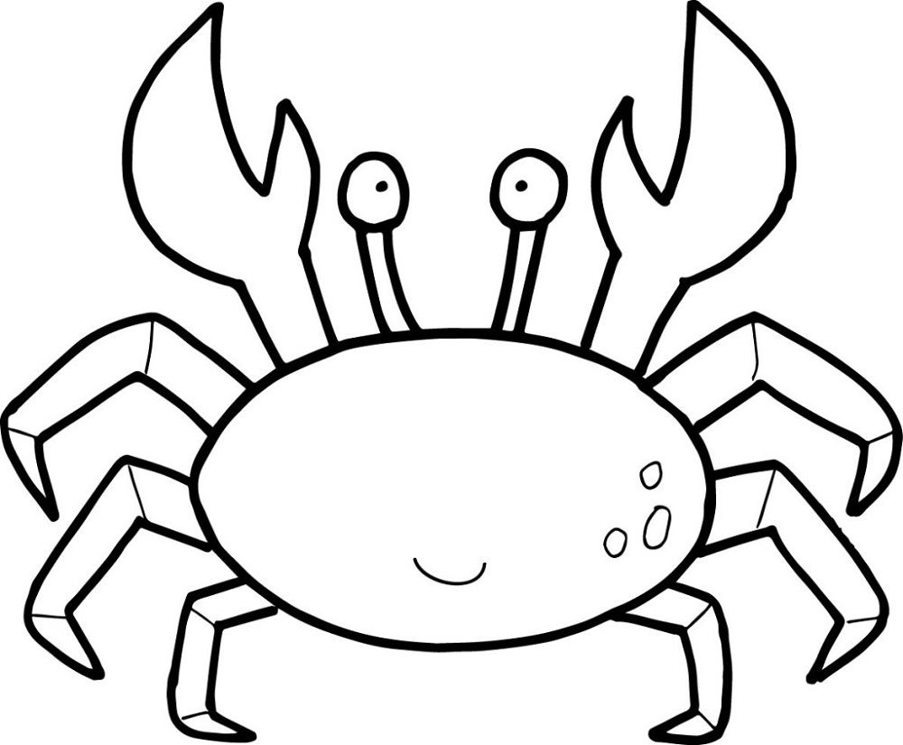 cute crab coloring pages printable crab coloring pages cute looking cartoon crab cute coloring crab pages