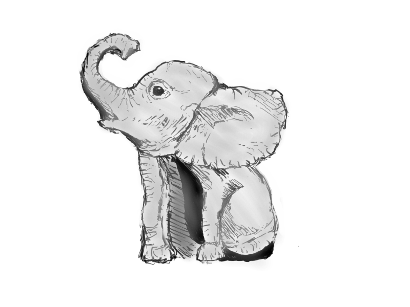 cute elephant drawing elephant cartoon drawing free download on clipartmag drawing elephant cute