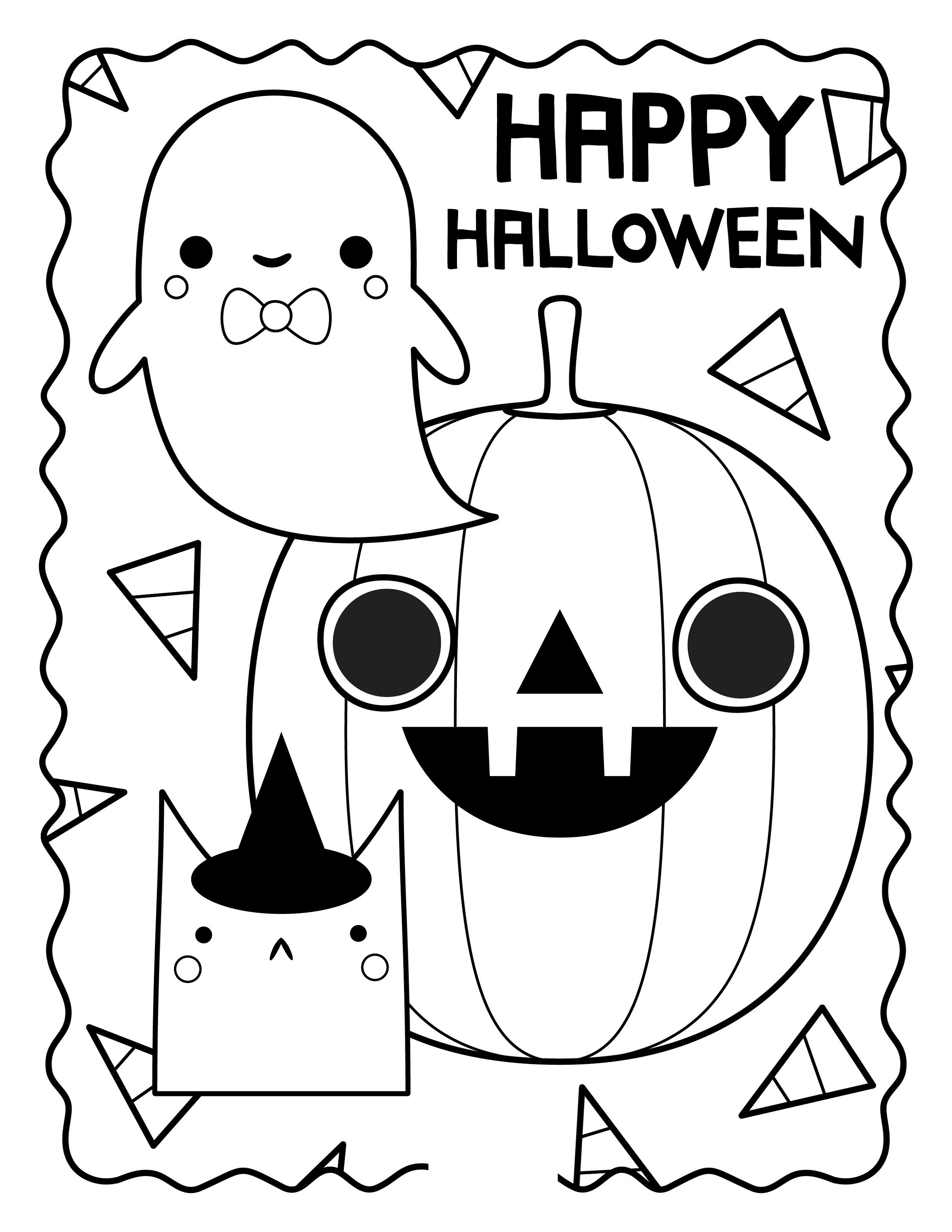 cute halloween coloring pages cute halloween coloring pages coloring pages to download cute coloring halloween pages