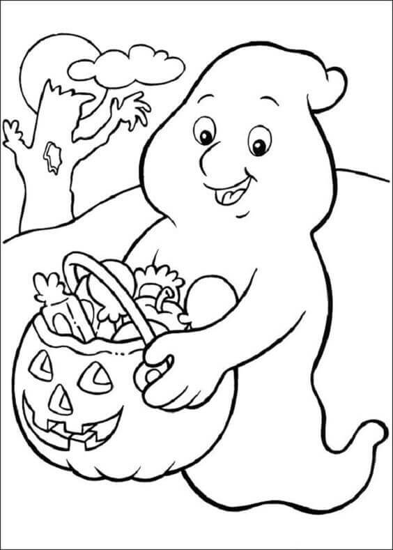 cute halloween coloring pages scene with a scarecrow and cute ghosts halloween coloring pages halloween cute coloring