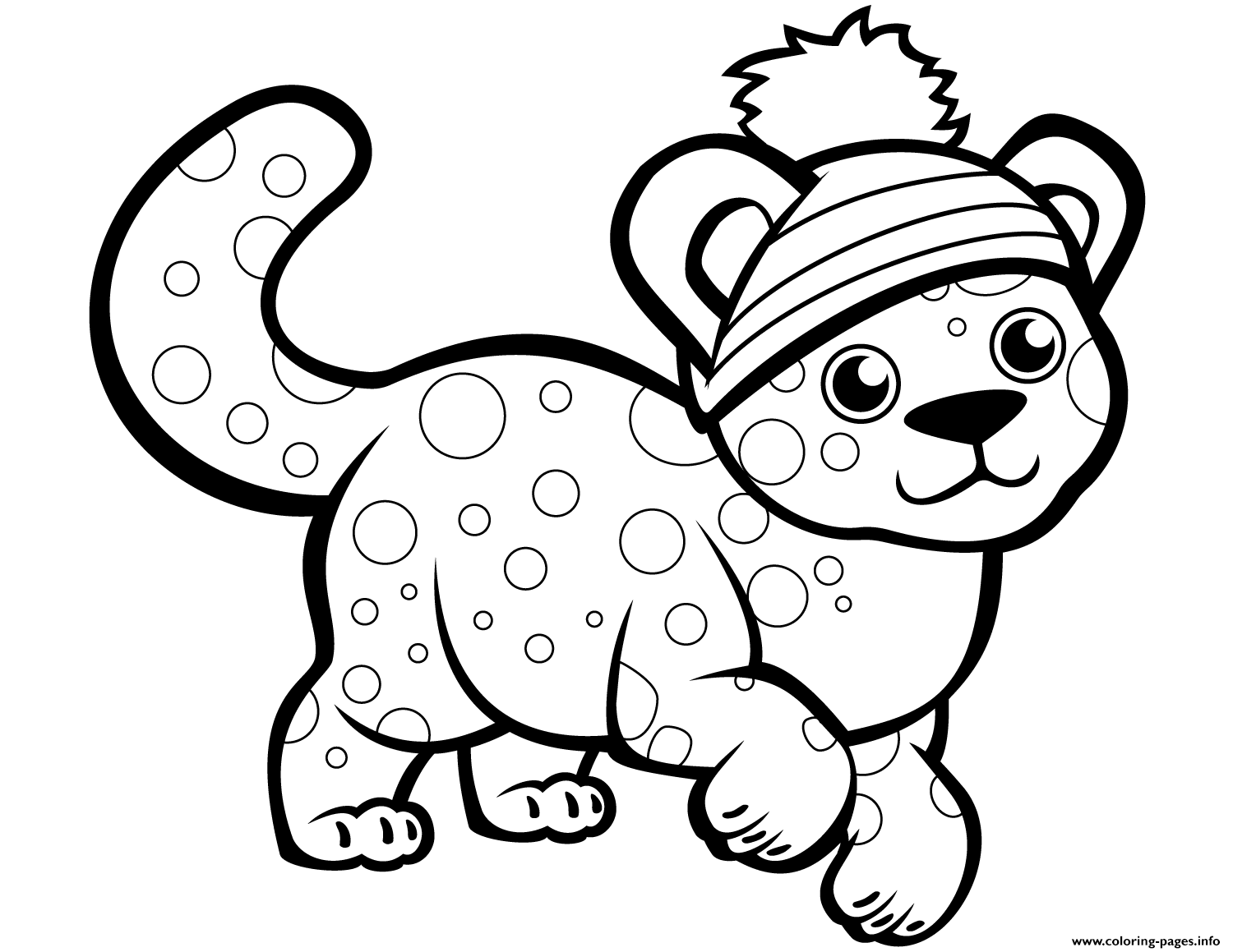 cute k coloring pages cute cheetah in winter hat coloring pages printable coloring pages k cute