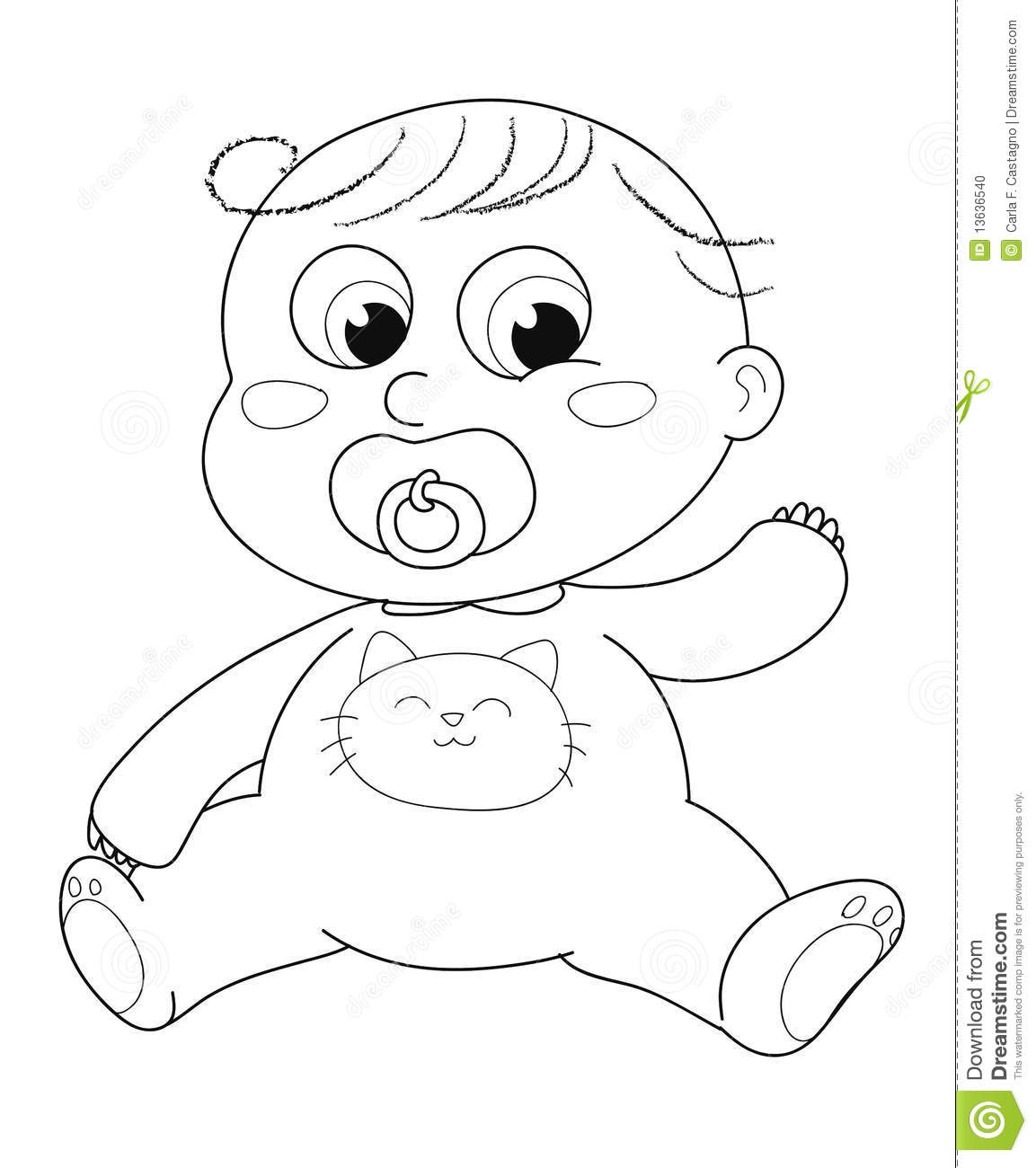 cute newborn baby baby coloring pages cute baby coloring stock vector image of babe babies baby coloring pages baby newborn cute