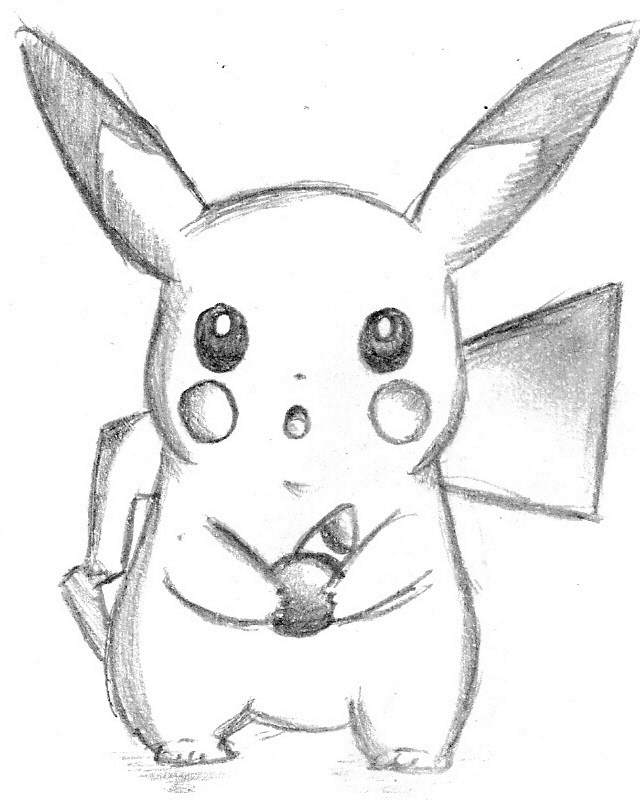 cute pikachu drawing pikachu images for drawing at paintingvalleycom explore pikachu cute drawing