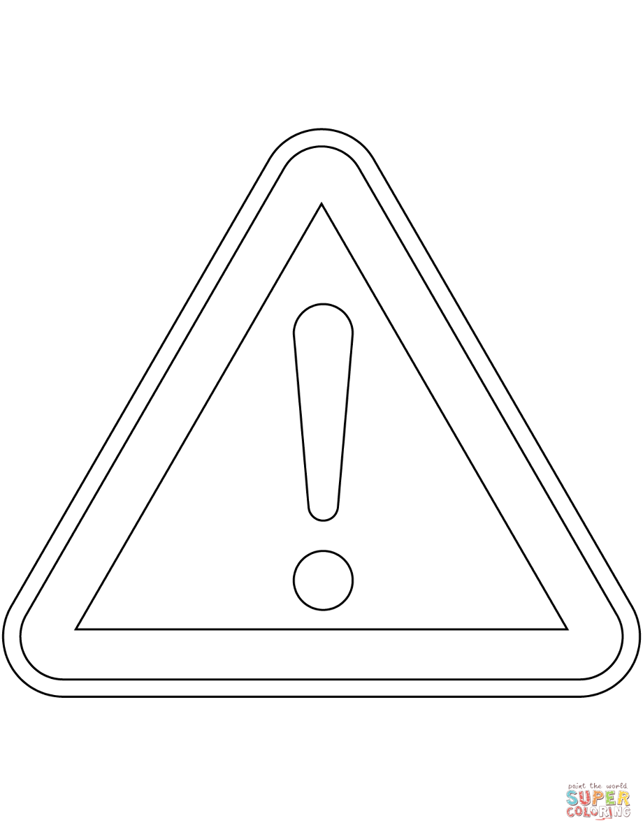 danger sign coloring page quotother dangerquot sign in finland coloring page free danger page coloring sign
