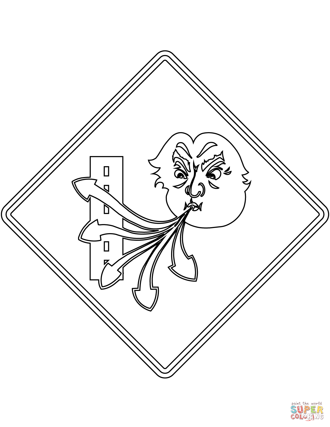 danger sign coloring page school advance warning outline clipart etc page sign coloring danger