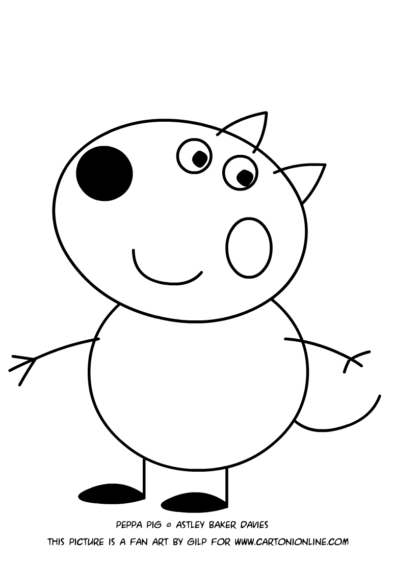 danny dog coloring page how to draw danny dog from peppa pig step by step easy page danny coloring dog