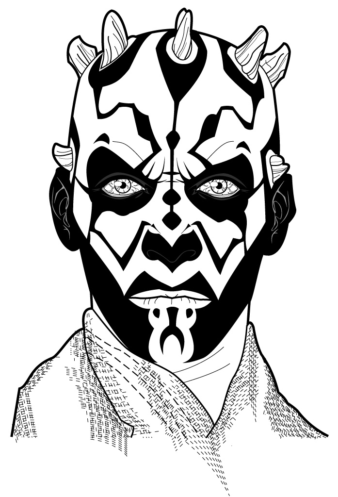 darth maul coloring page darth maul revised by thenotadeviantartcom on maul page darth coloring