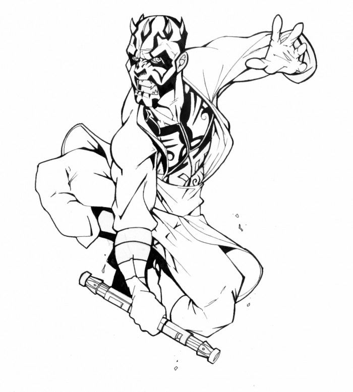 darth maul coloring page darth maul with images star wars art drawings star coloring maul darth page