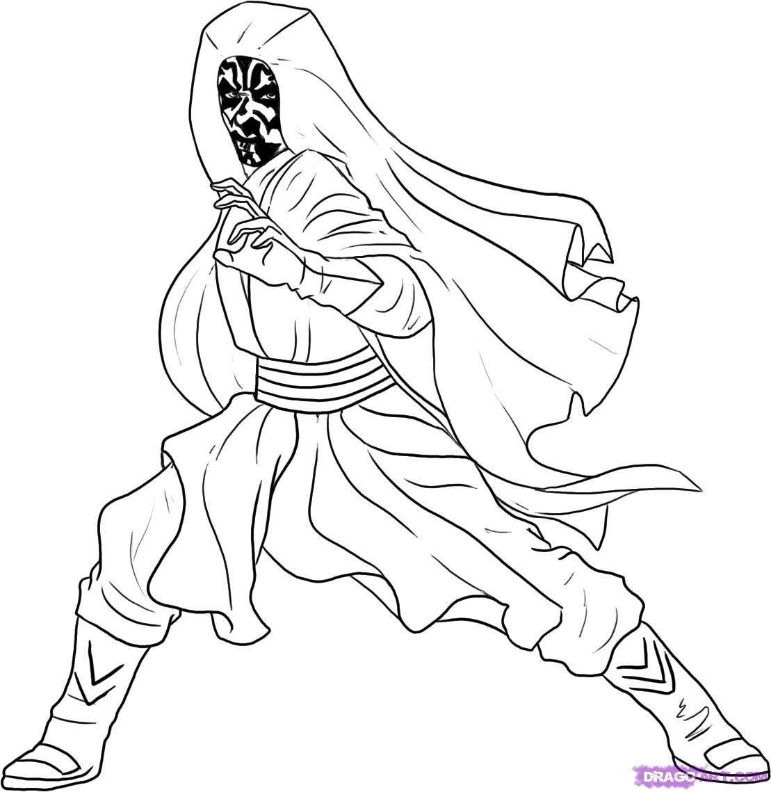 darth maul coloring page star wars coloring pages darth maul at getcoloringscom coloring maul darth page