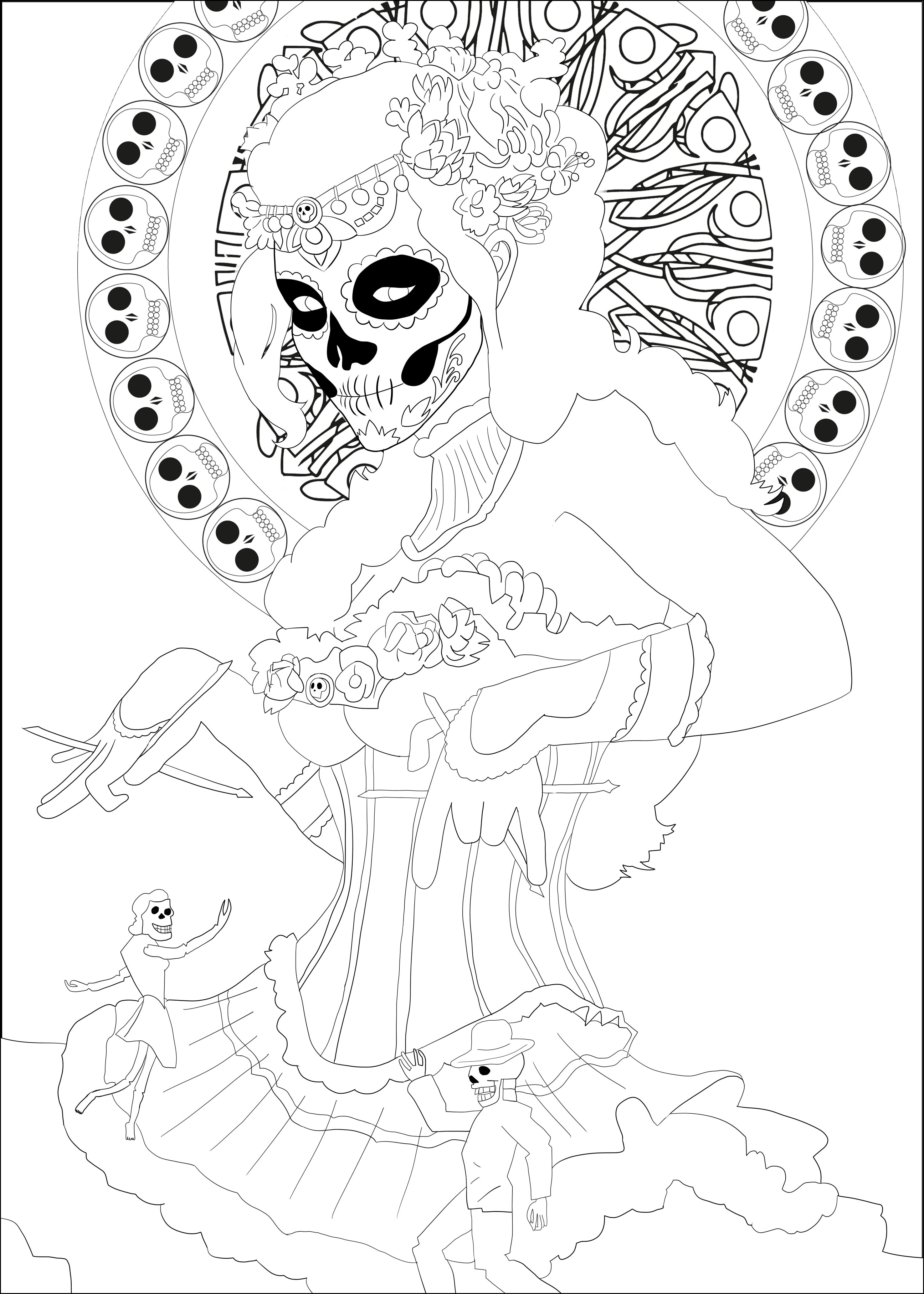 day of dead coloring pages day of dead coloring pages dead day pages of coloring