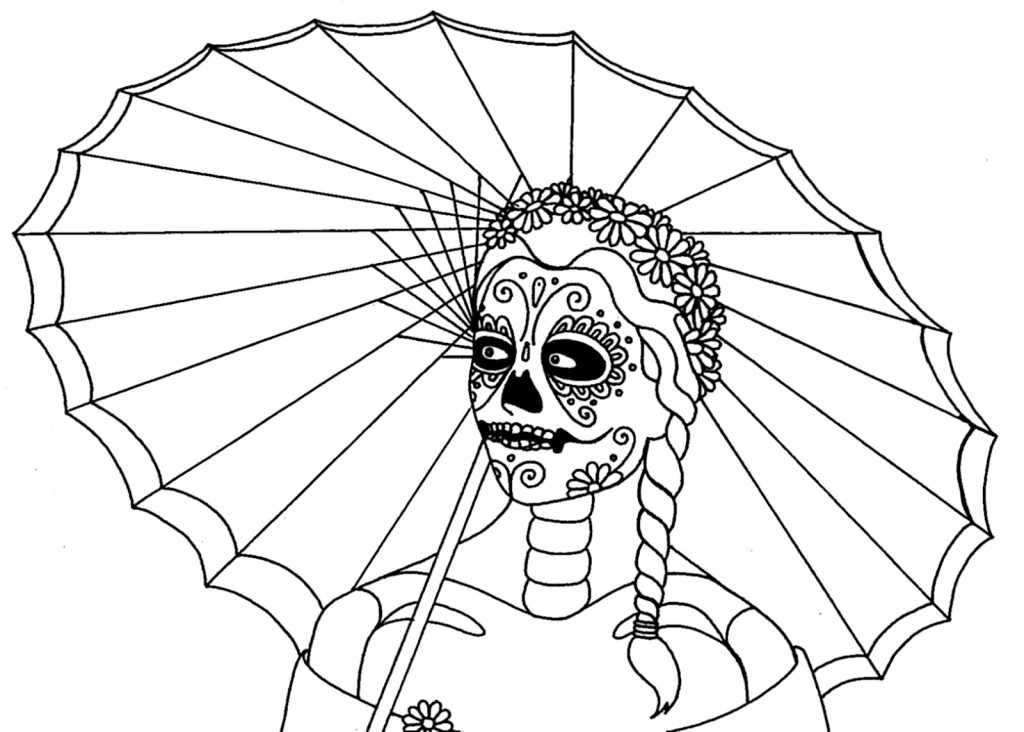 day of dead coloring pages free printable day of the dead coloring pages best day dead coloring pages of