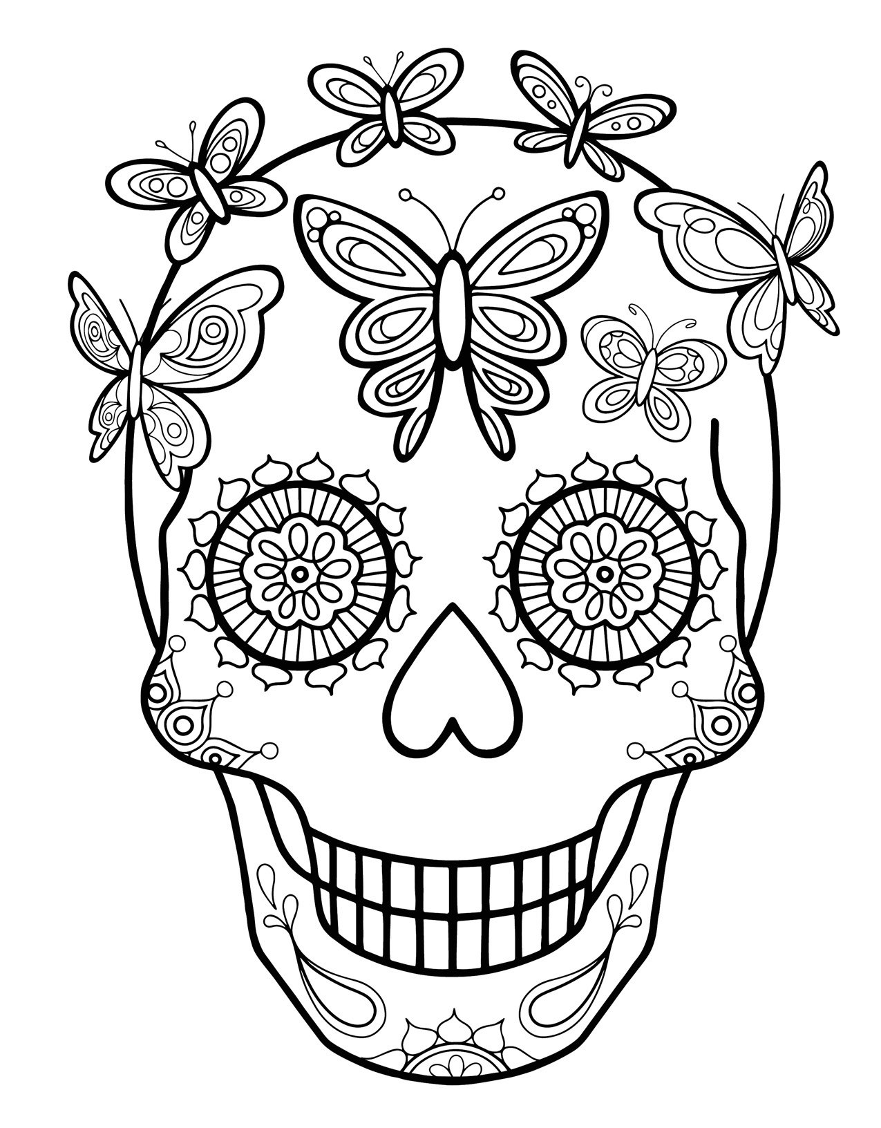 day of dead coloring pages free printable day of the dead coloring pages best pages day of coloring dead