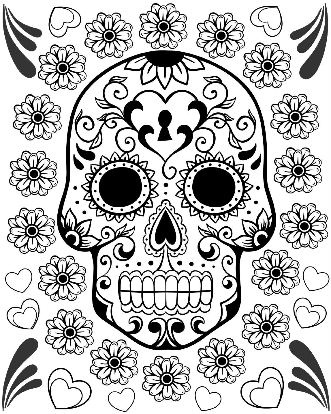 day of dead coloring pages free printable day of the dead coloring pages best pages dead coloring day of