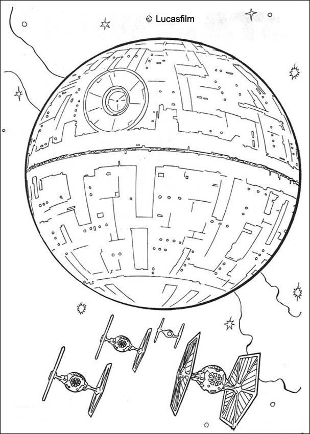 death star coloring page death star and the fighters coloring pages hellokidscom death page star coloring