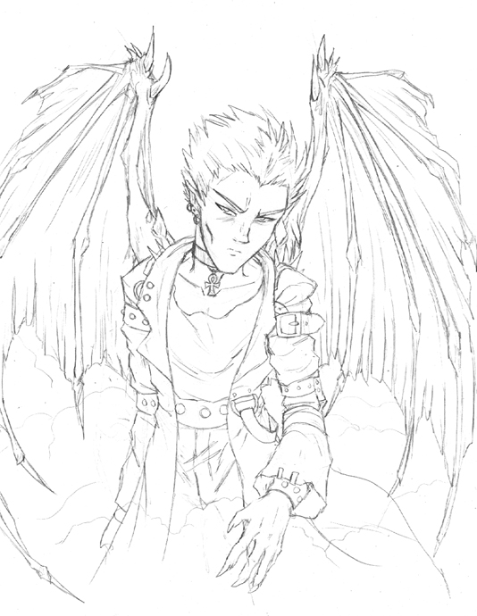 demon anime coloring pages anime demon drawing at getdrawings free download coloring demon anime pages