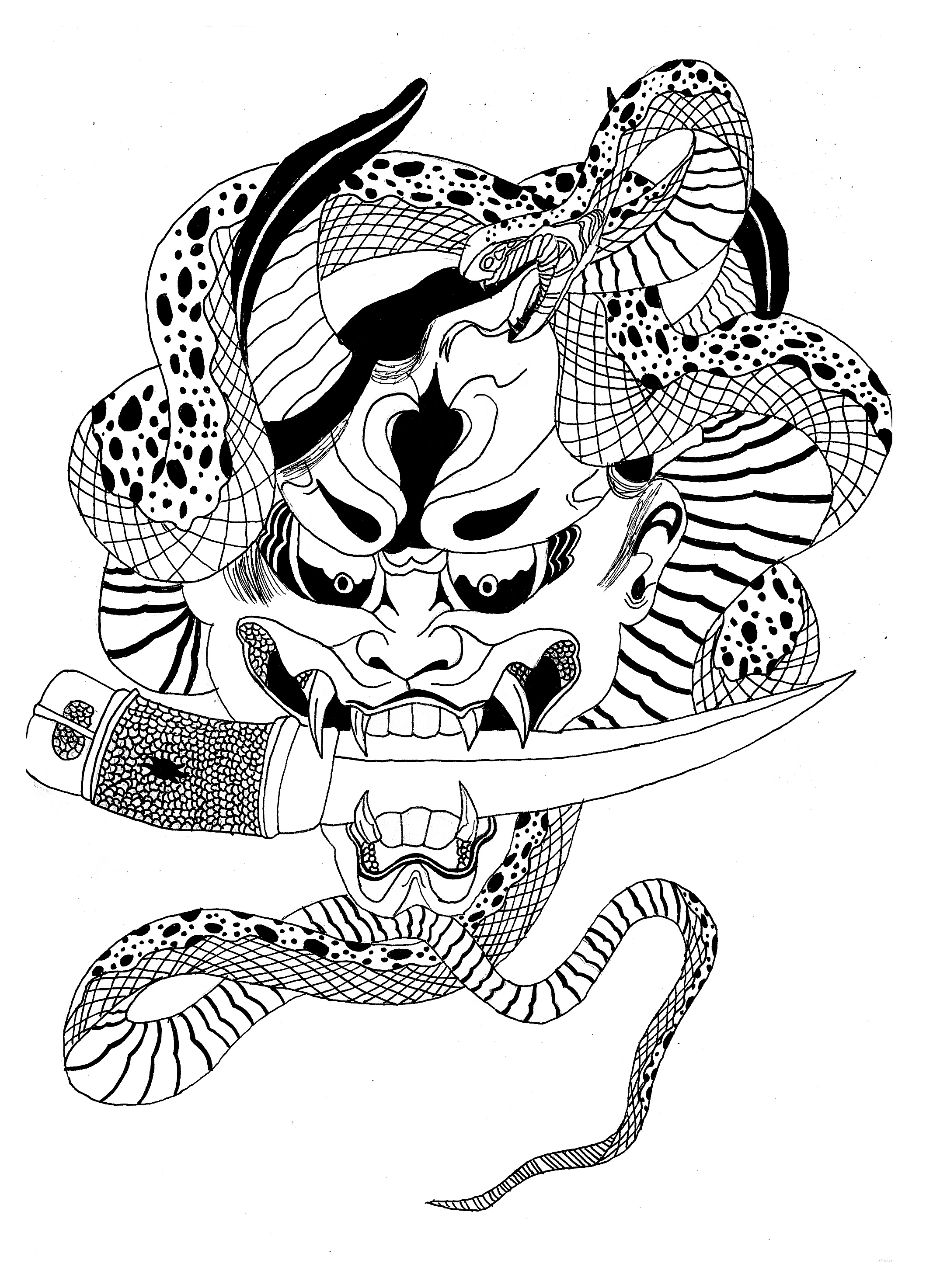 demon anime coloring pages demon colouring pages sketch coloring page anime coloring demon pages