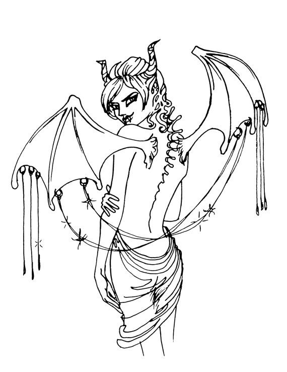 demon anime coloring pages demon free coloring pages pages anime demon coloring