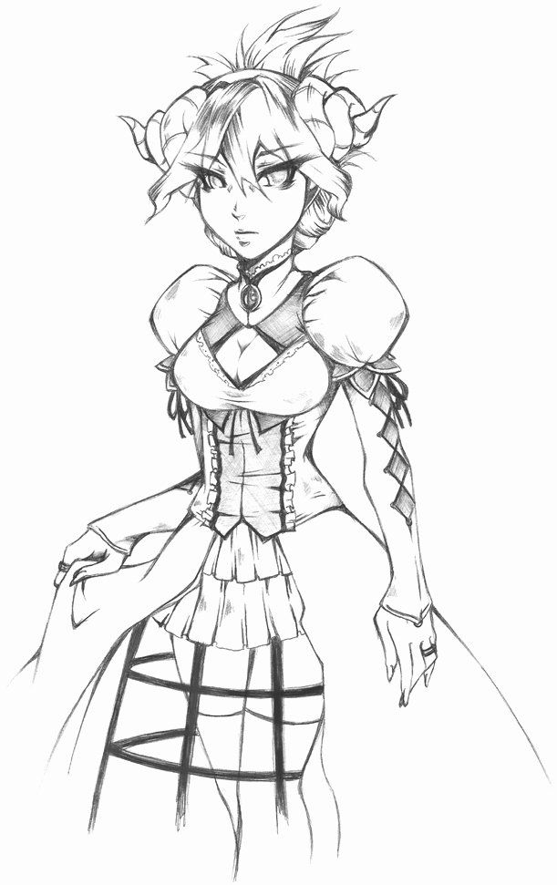 demon anime coloring pages demon king anime drawing sketch coloring page coloring anime demon pages