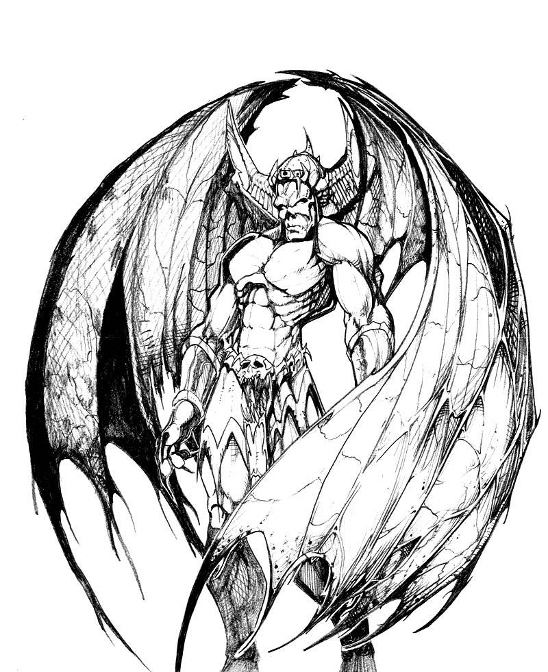 demon anime coloring pages easy demon coloring pages anime coloring demon pages