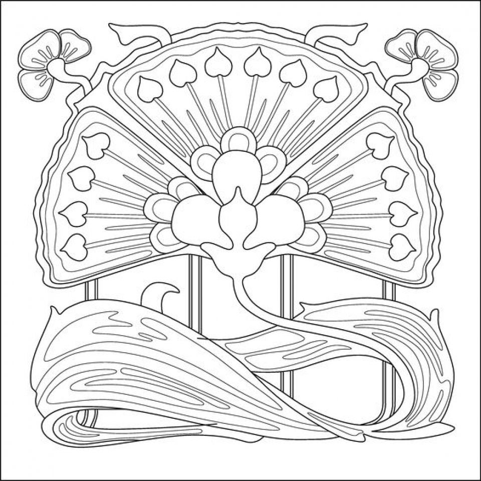 design art coloring pages beautiful coloring book page with floral art stock design coloring art pages
