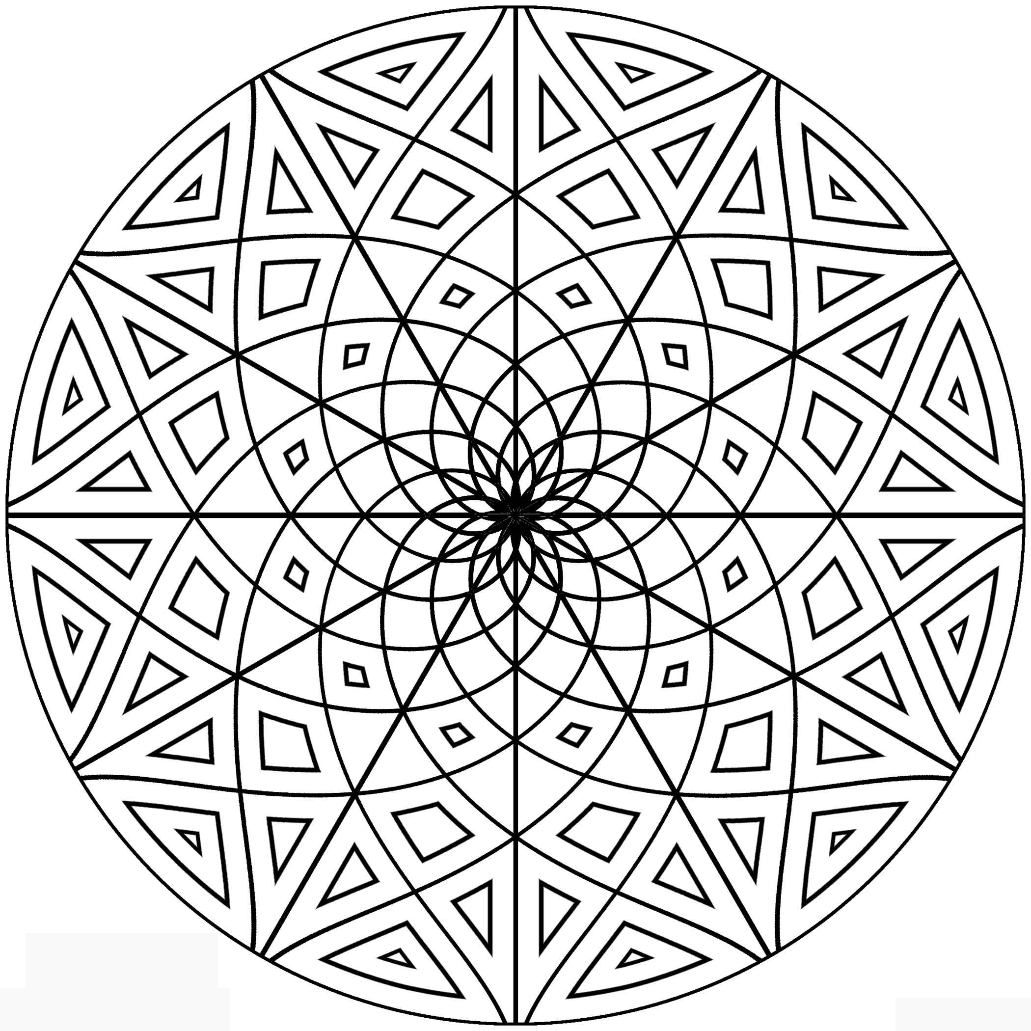 design coloring pages free printable geometric coloring pages for adults coloring design pages