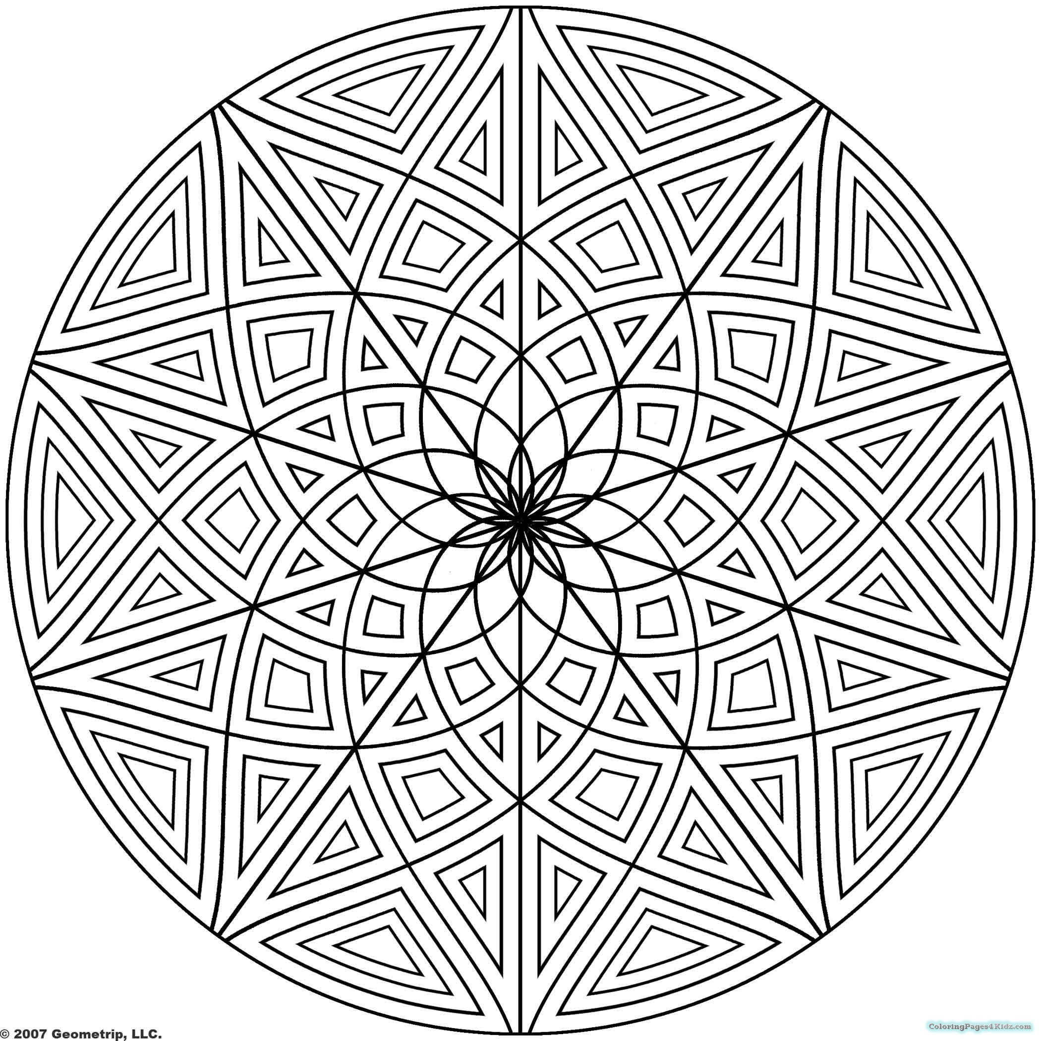 design coloring pages free printable geometric coloring pages for kids pages design coloring 1 2