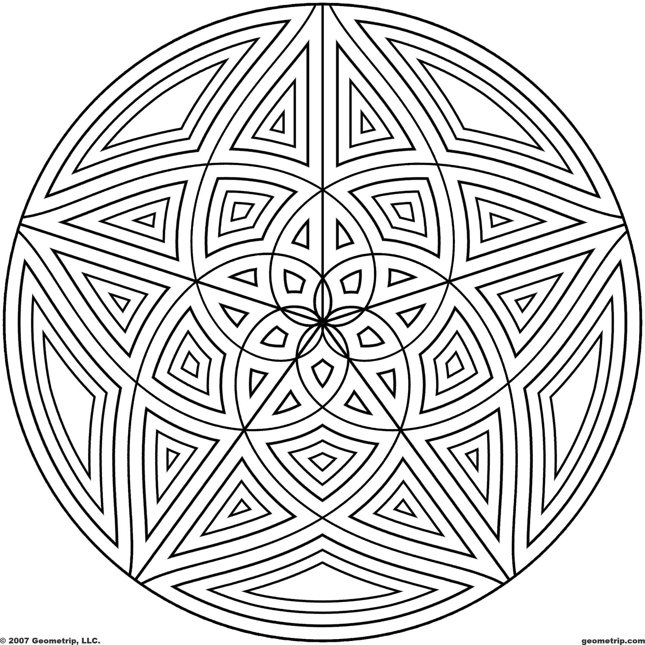 design coloring pages free printable geometric coloring pages for kids pages design coloring 1 3