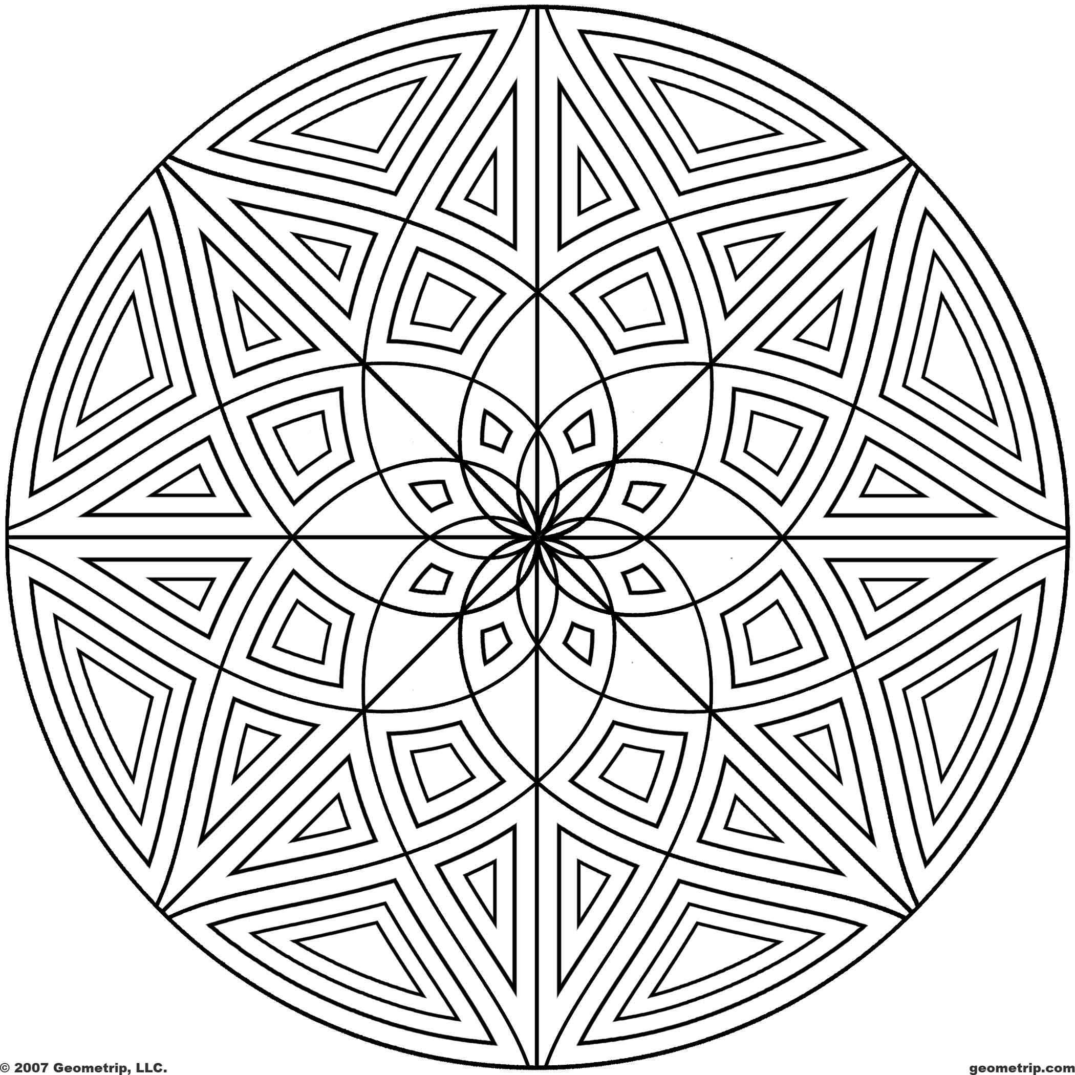 design pictures to color free printable geometric coloring pages for kids pictures color design to