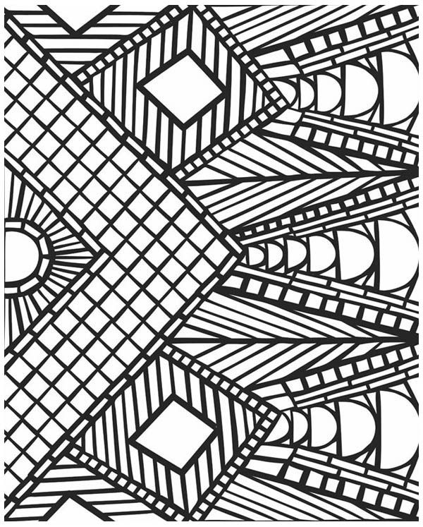 designs coloring pages cool geometric design coloring pages getcoloringpagescom pages coloring designs