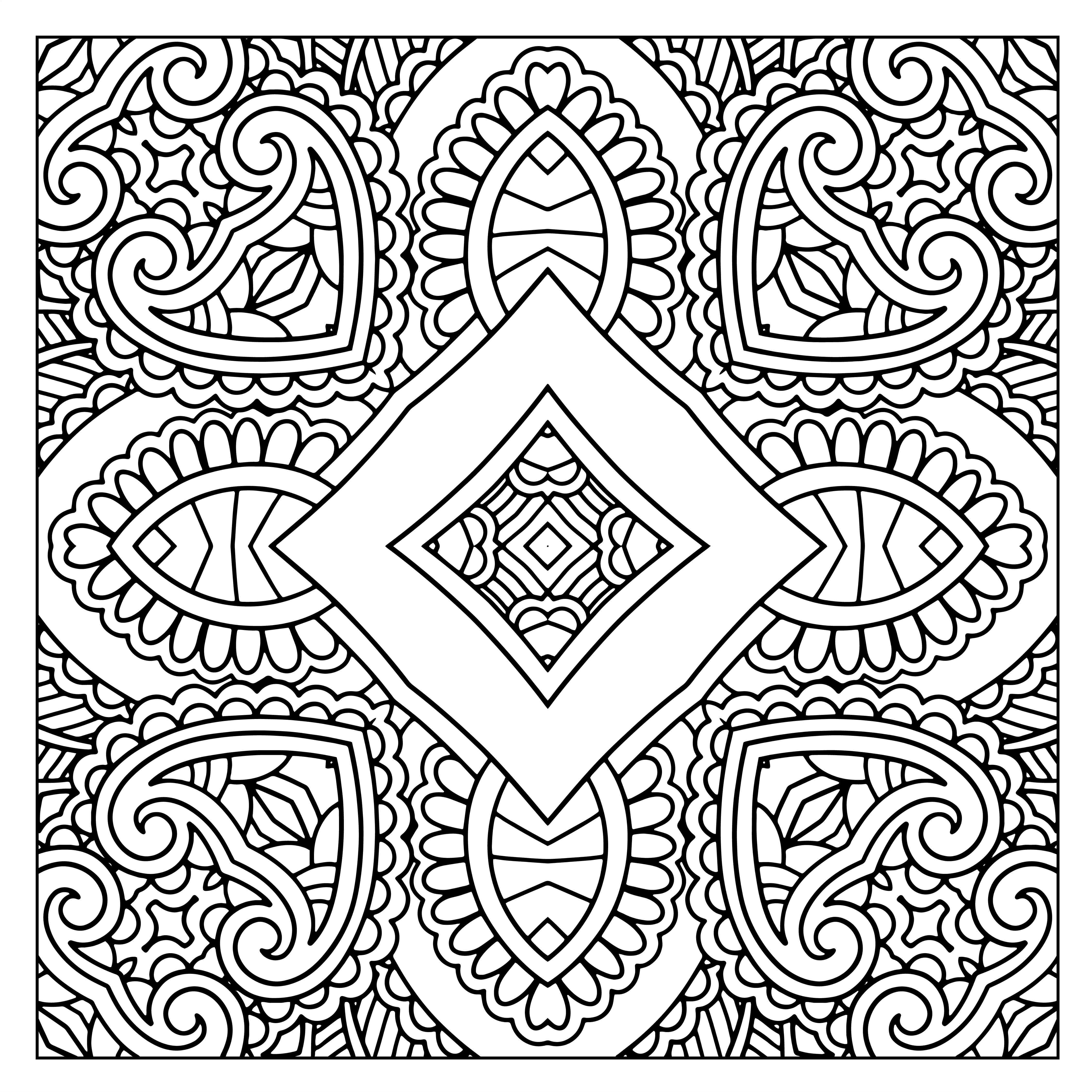 designs to color free 50 free square patterns kaleidoscope adult coloring color free designs to