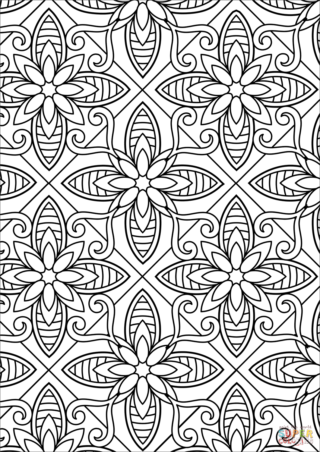 designs to color free floral pattern coloring page free printable coloring pages designs to free color