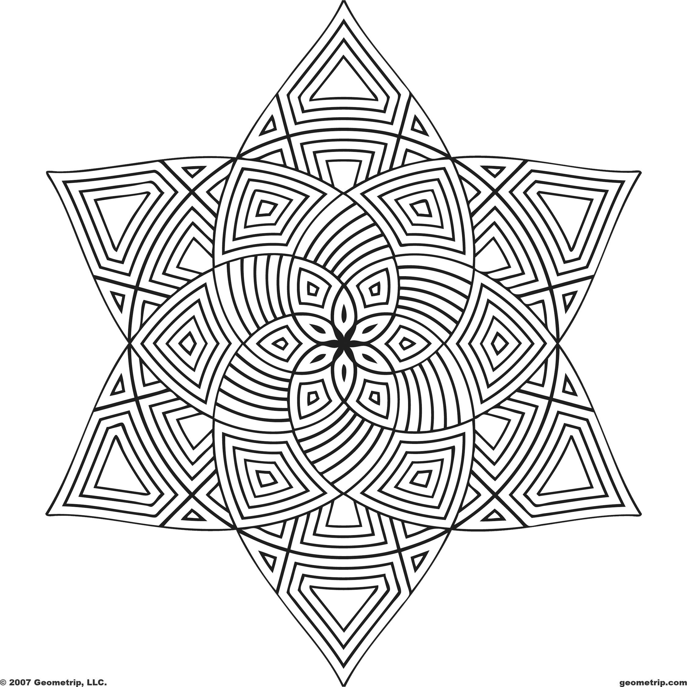 designs to color free geometric pattern coloring pages for adults at free to color designs