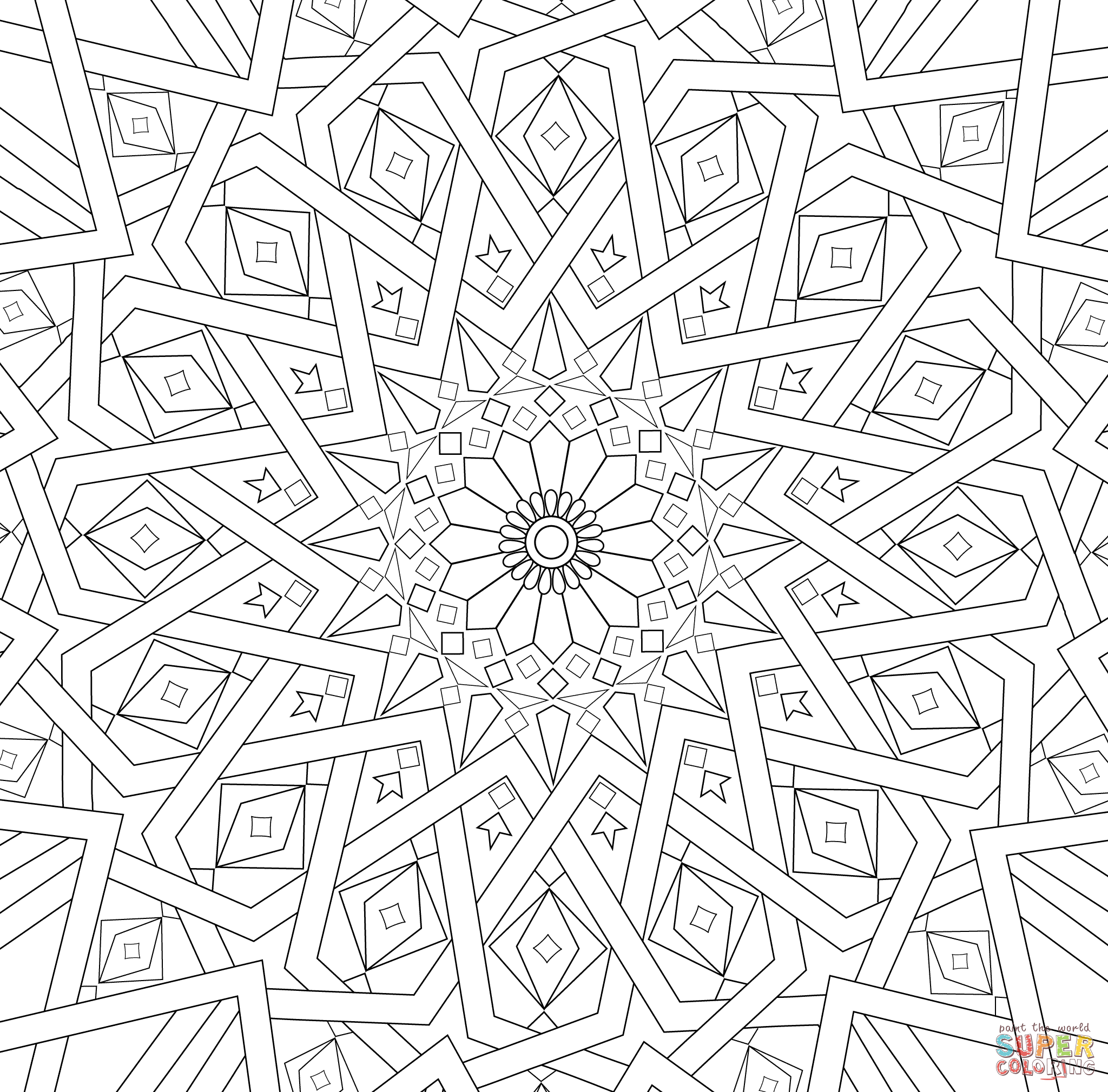 designs to color free traditional islamic mosaic coloring page free printable color free designs to